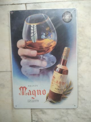 Chapa placa metal brandy magno osborne