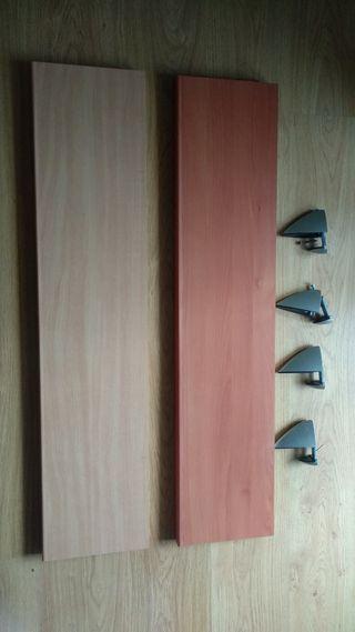 Baldas o estantes madera pared