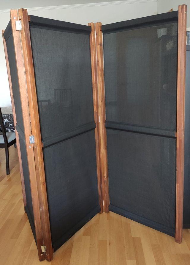Biombo negro para interior y jardín