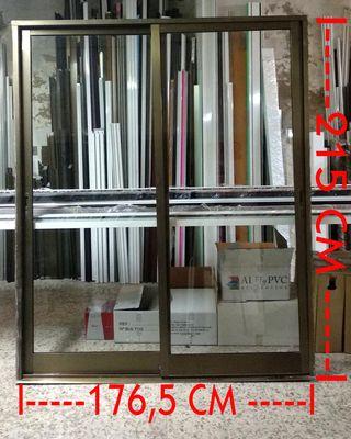 4 Puertas corredera de aluminio 176,5 x 215 cm