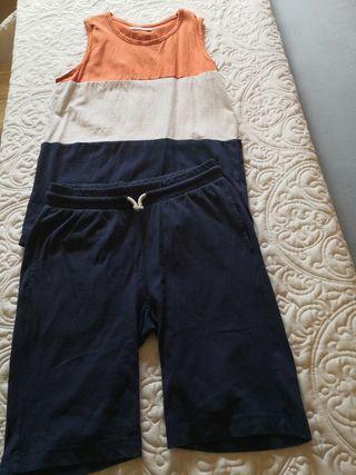 conjunto de pantalón y camiseta de zara