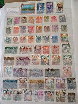 sellos usados Italia