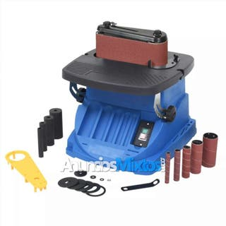 Lijadora de banda y huso oscilante 450 W azul