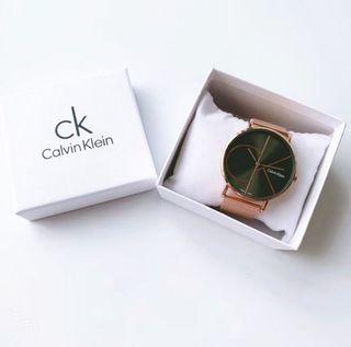 Reloj Calvin Klein Oro Rosado y Negro NUEVO