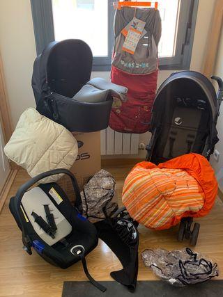 Carro de bebé TRIO JANE con capazo, maxi y silla