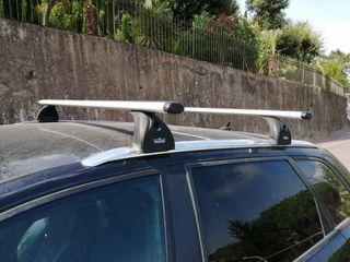 Barras aluminio coches con raíles longitudinales