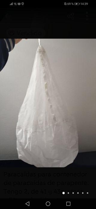 Paracaídas para contenedor con asa, másenmiperfil
