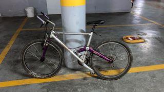 Bicicleta con amortiguadores
