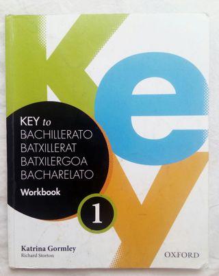 Libro workbook inglés Key 1 Bachillerato.