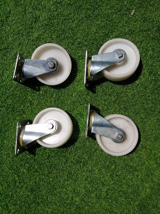 Set de 4 ruedas de nylon de 13cm diámetro