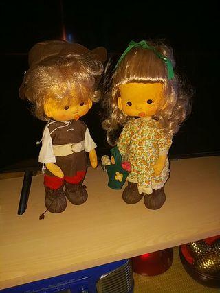 Pareja de muñecos vintage de coleccion