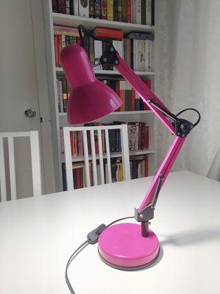 lámpara rosa incluye bombilla
