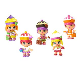 PYN Y PON-PASTELITOS-Set 5 muñecas-Perfumadas