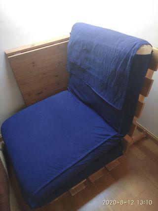 Futon, cama auxiliar plegable, plegatin,