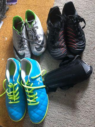Zapatillas de fútbol y espinillera niño