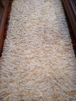 3 alfombras de pelo largo