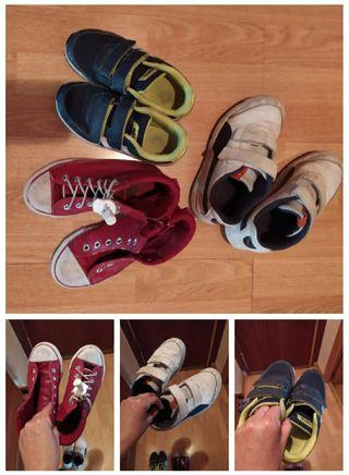 Zapatillas niño usadas + otras de regalo