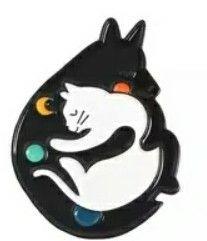 pin gatos ying yang [NUEVO]