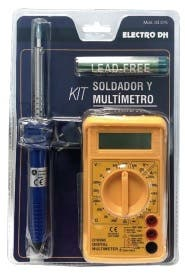 KIT SOLDADOR Y MULTIMETRO