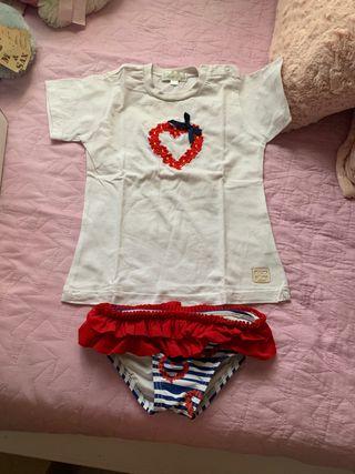 Conjunto camiseta y culetin de baño