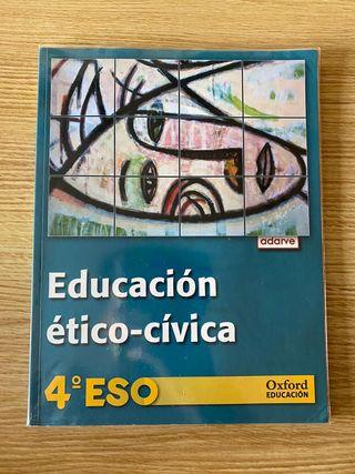 Libro Educación ético-cívica 4 ESO