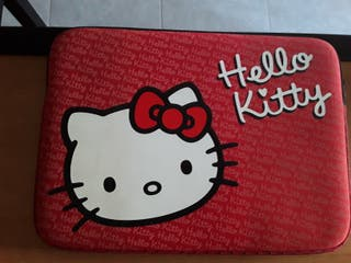 Funda neopreno portátil Hello kitty con cremallera