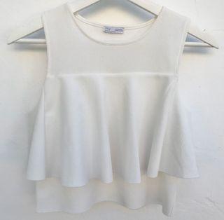 Top blanco Zara de segunda mano en la provincia de Málaga en