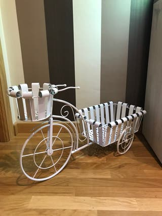 Bicicleta macetero forja