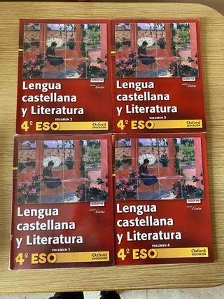 Libros Lengua Castellana y literatura 4 ESO