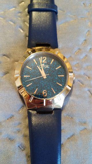 Reloj LOTUS mujer color oro rosa y azul