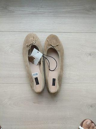 bailarinas beige/ camel Talla 40 piel autentica