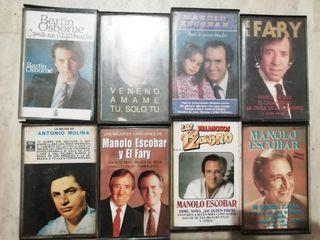 cassettes Manolo escobar, el Fary, Bertin O.,..