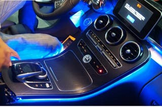 luz ambiente led para panel frontal mercedes w205.