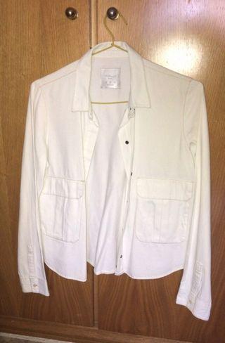 Camisa blanca vaquera - Zara