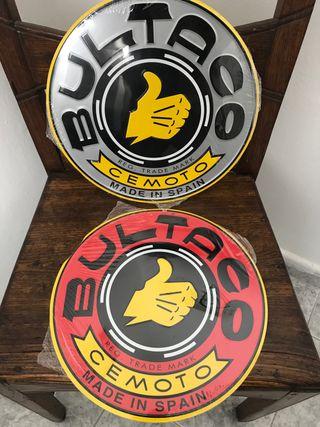 Placa metálica Bultaco