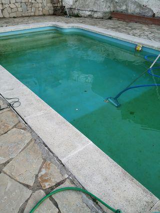 mantenimiento piscina verde aspiración por 25€