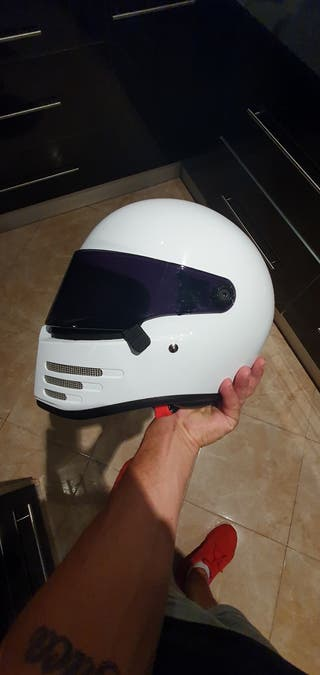 casco bandit figther blanco