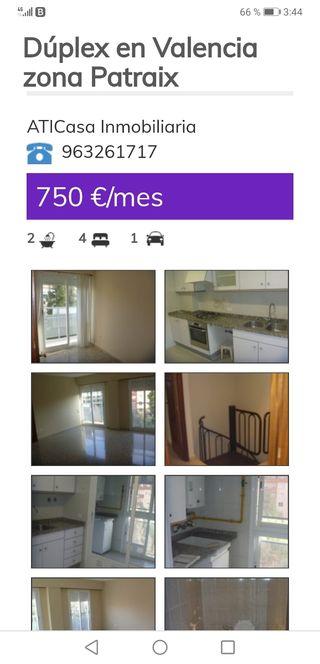 Se alquila piso por 750€, zona Patraix
