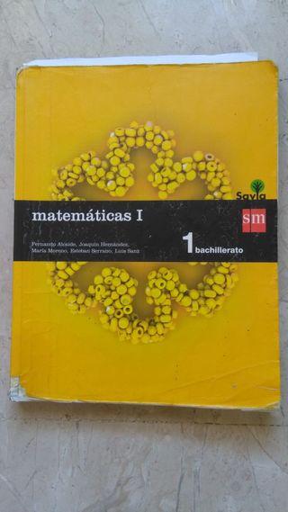libro de matemáticas académicas 1º bachillerato