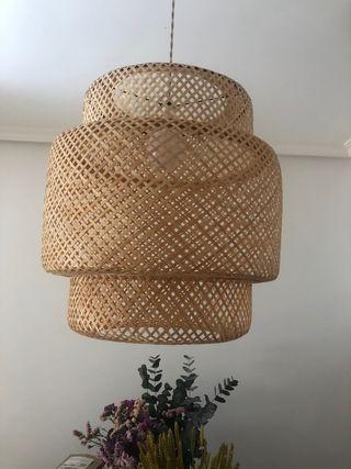 Globo jaula mimbre lampara