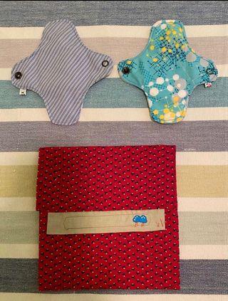 Salva slips y bolsa artesanal