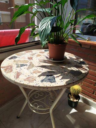 Mesa de màrmol terraza, jardín