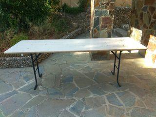 Mesa de madera plegable terraza jardín