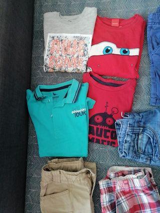 ropa de niño de 3/4 años, 6bermudas y 3 camisetas
