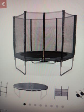 Cama elastica gris sin estrenar. 2,50m