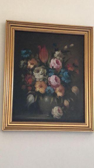 Bodegón con flores. Autor desconocido