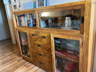 Mueble aparador vitrina madera