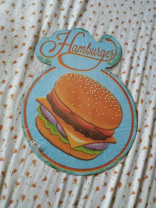 carteles metal vintage burger.