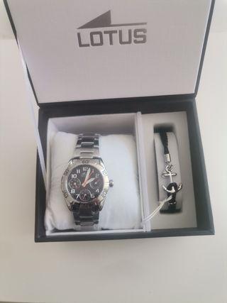 Conjunto reloj y pulsera de lotus original