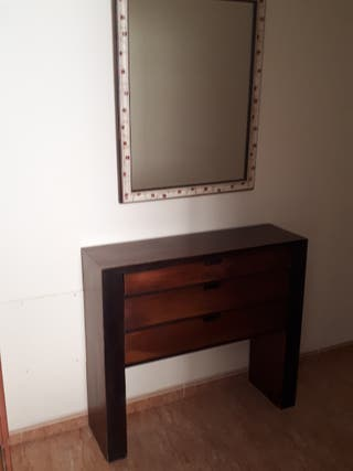 Mueble entrada y espejo